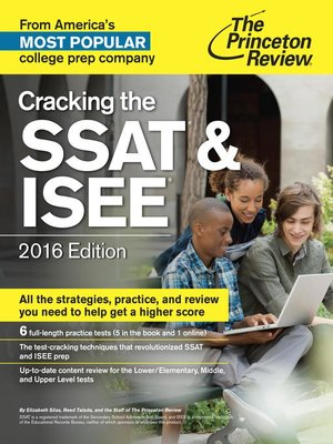cover image of Cracking the SSAT & ISEE, 2016 Edition