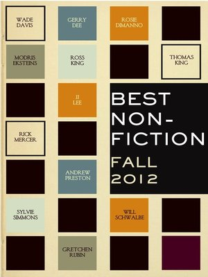 cover image of Best Non-Fiction Fall 2012 Sampler