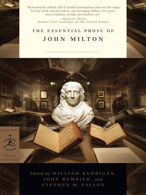 cover image of The Essential Prose of John Milton