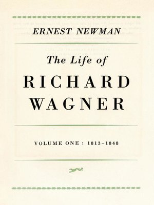 cover image of Life of Richard Wagner, Volume 1