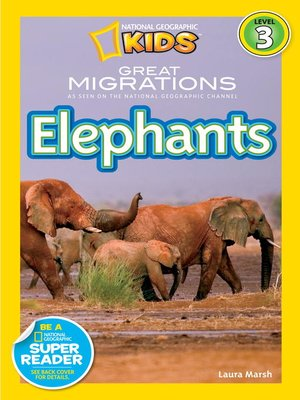 cover image of National Geographic Readers: Great Migrations Elephants