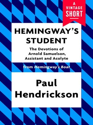 cover image of Hemingway's Student