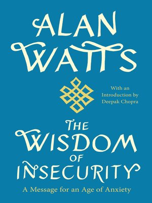cover image of The Wisdom of Insecurity