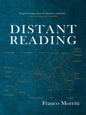 cover image of Distant Reading