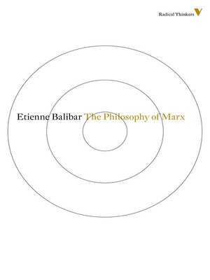 cover image of The Philosophy of Marx
