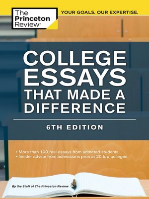 cover image of College Essays That Made a Difference