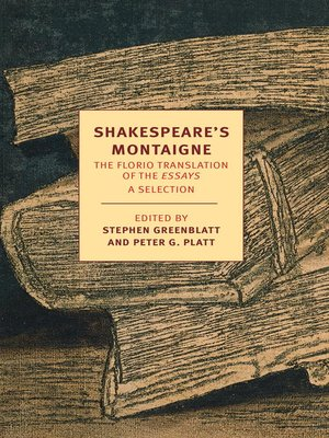 cover image of Shakespeare's Montaigne
