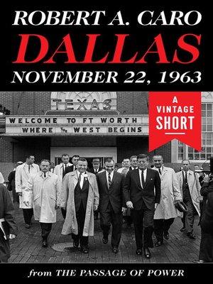 cover image of Dallas, November 22, 1963