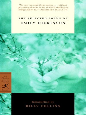 cover image of The Selected Poems of Emily Dickinson