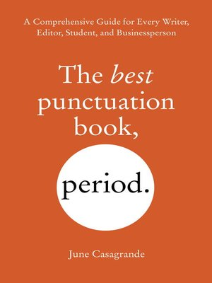 cover image of The Best Punctuation Book, Period