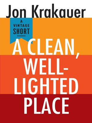 cover image of A Clean, Well-Lighted Place