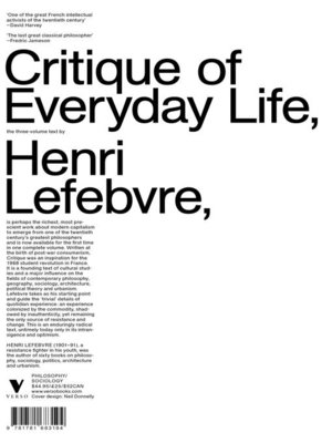 cover image of Critique of Everyday Life