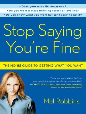 cover image of Stop Saying You're Fine