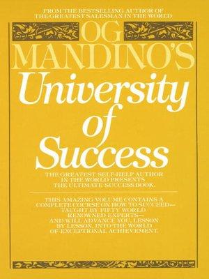 cover image of Og Mandino's University of Success