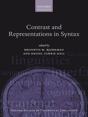 cover image of Contrast and Representations in Syntax
