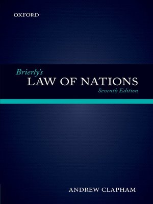 cover image of Brierly's Law of Nations