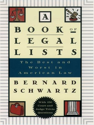 cover image of A Book of Legal Lists