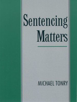 cover image of Sentencing Matters