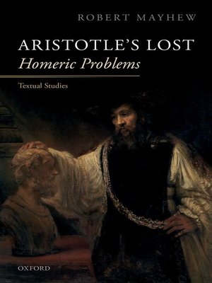cover image of Aristotle's Lost Homeric Problems