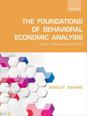 cover image of The Foundations of Behavioral Economic Analysis
