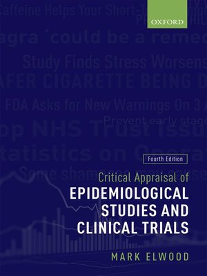 cover image of Critical Appraisal of Epidemiological Studies and Clinical Trials