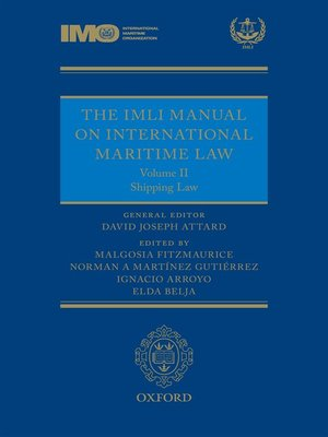 cover image of The IMLI Manual on International Maritime Law Volume II Shipping Law