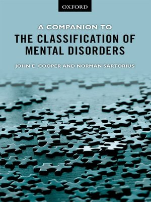 cover image of A Companion to the Classification of Mental Disorders