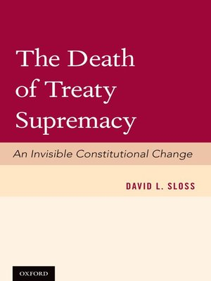 cover image of The Death of Treaty Supremacy