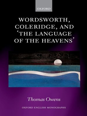 cover image of Wordsworth, Coleridge, and 'the language of the heavens'