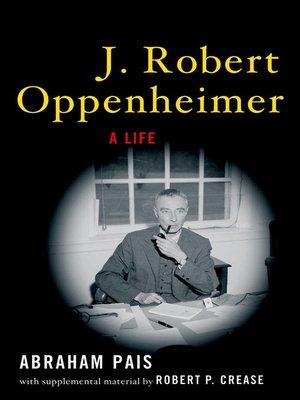 cover image of J. Robert Oppenheimer