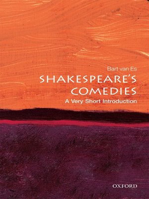 cover image of Shakespeare's Comedies: A Very Short Introduction