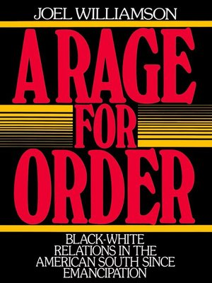 cover image of A Rage for Order