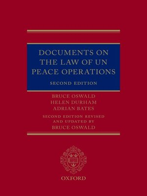 cover image of Documents on the Law of UN Peace Operations