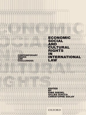 cover image of Economic, Social, and Cultural Rights in International Law