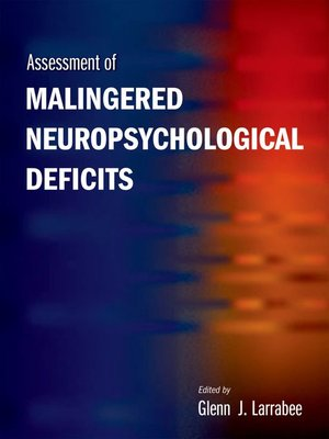 cover image of Assessment of Malingered Neuropsychological Deficits