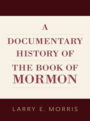 cover image of A Documentary History of the Book of Mormon