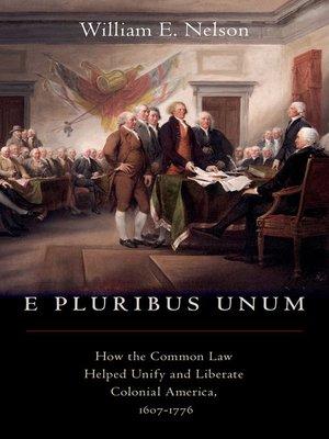 cover image of E Pluribus Unum