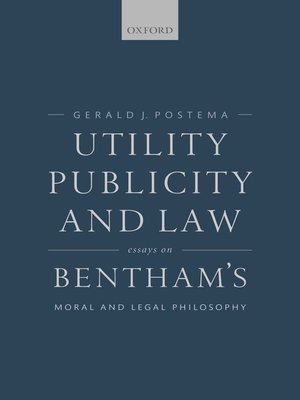 cover image of Utility, Publicity, and Law