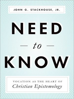 cover image of Need to Know