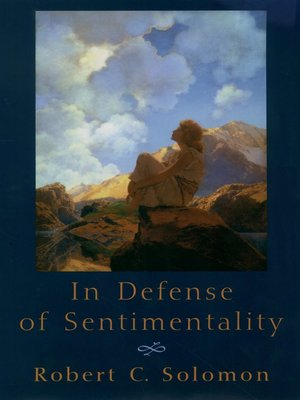 cover image of In Defense of Sentimentality
