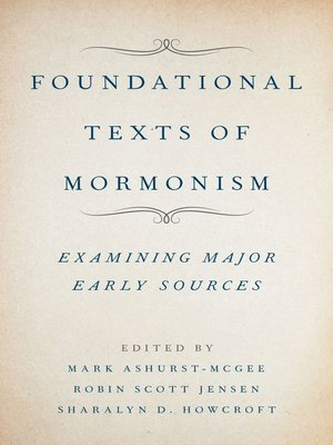 cover image of Foundational Texts of Mormonism