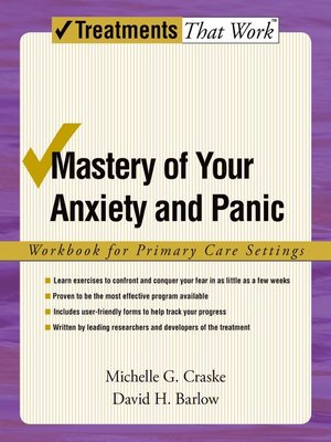 cover image of Mastery of Your Anxiety and Panic
