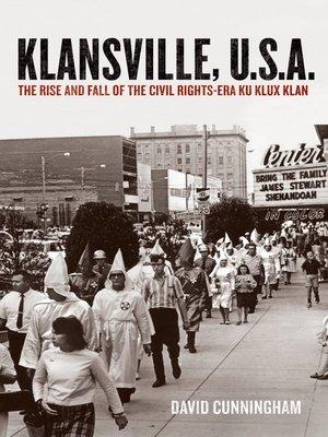 cover image of Klansville, U.S.A.