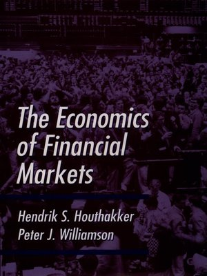 cover image of The Economics of Financial Markets