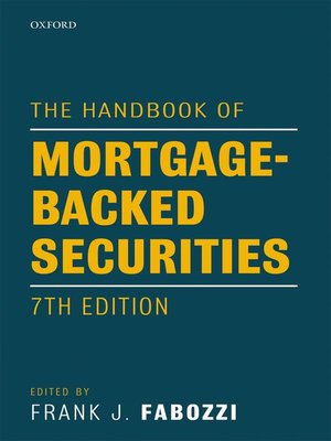cover image of The Handbook of Mortgage-Backed Securities