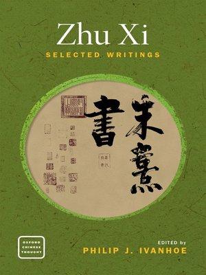 cover image of Zhu Xi