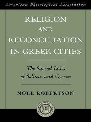 cover image of Religion and Reconciliation in Greek Cities
