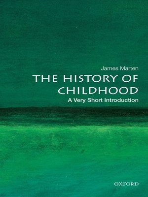 cover image of The History of Childhood