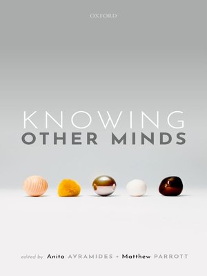 cover image of Knowing Other Minds