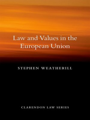 cover image of Law and Values in the European Union